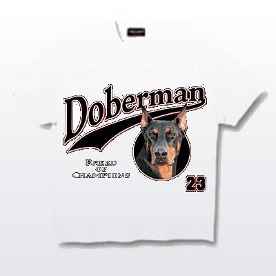 Doberman, Cropped - T Shirt - Breed of Champions
