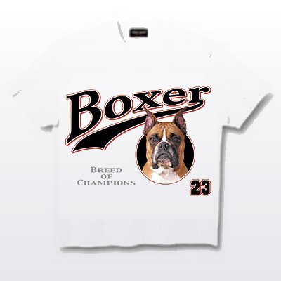 Boxer, Cropped - T Shirt - Breed of Champions