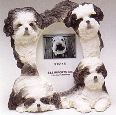 "Shih Tzu, Black - Dog Photo Frame 3 1/2"" x 5"""