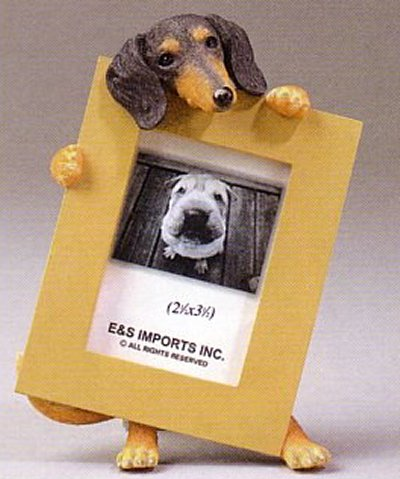 "Dachshund, Black - Dog Photo Frame 2 1/2"" x 3 1/2"""