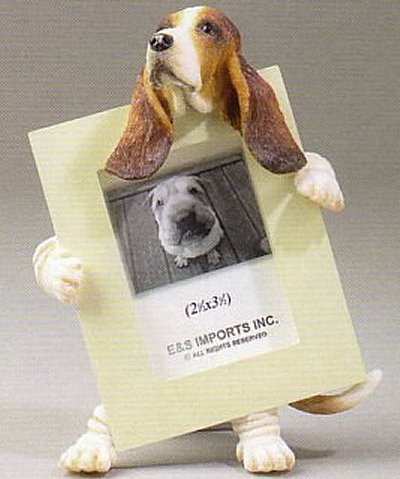 "Basset Hound - Dog Photo Frame 2 1/2"" x 3 1/2"""