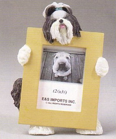 "Shih Tzu, Black - Dog Photo Frame 2 1/2"" x 3 1/2"""