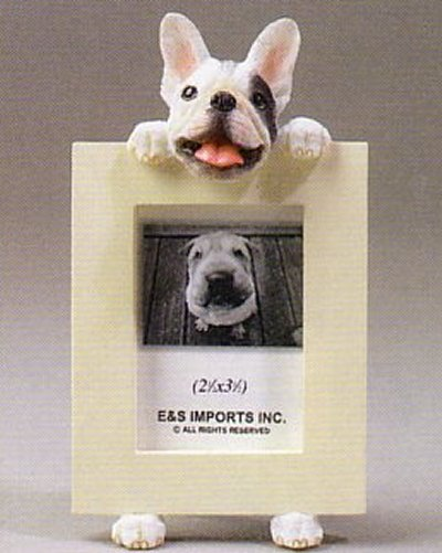 "French Bulldog, Black & White - Dog Photo Frame 2 1/2"" x 3 1/2"""