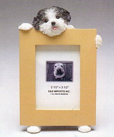 "Shih Tzu, Black - Dog Photo Frame 2 1/2"" x 3 1/2"" Puppy"