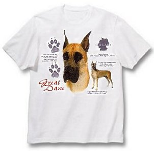 Great Dane, Cropped - T Shirt - History