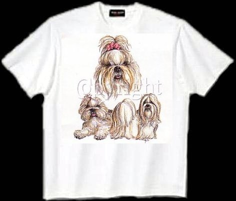 Shih Tzu, Black - T Shirt - Collage