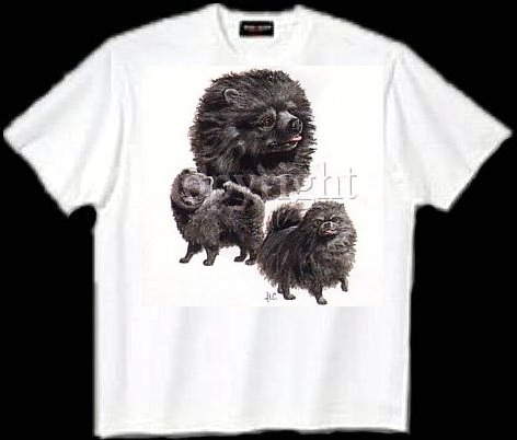 Chow Chow, Black - T Shirt - Collage