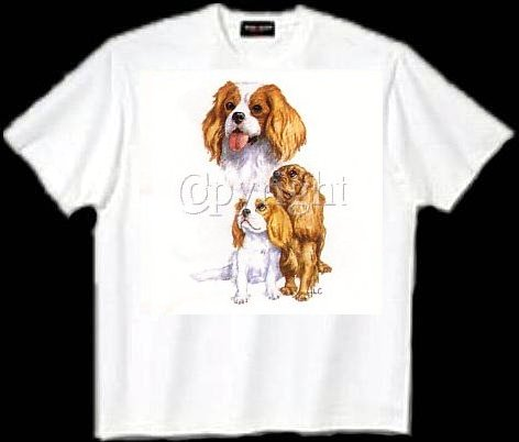Cavalier King Charles Spaniel - T Shirt - Collage