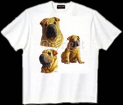 Chinese Shar-Pei - T Shirt - Collage
