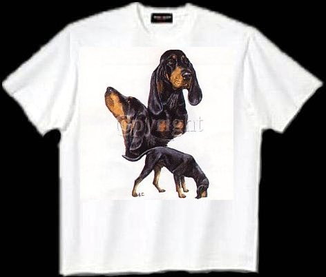 Coonhound - T Shirt - Collage