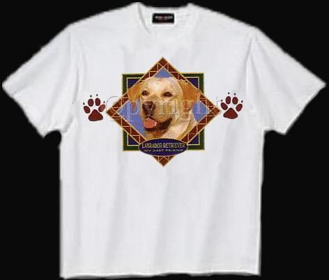 Labrador, Yellow - T Shirt - Diamond