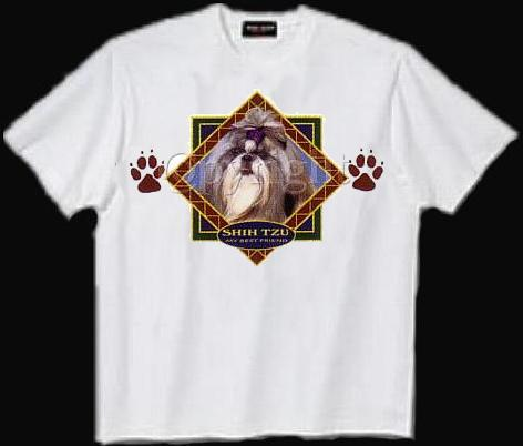Shih Tzu, Black - T Shirt - Diamond