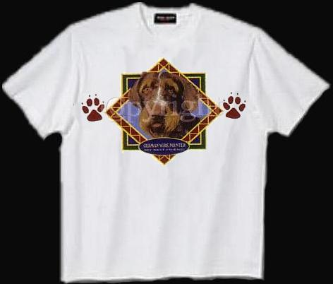 German Wirehaired Pointer - T Shirt - Diamond