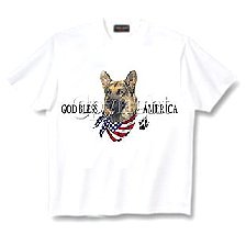 German Shepherd - T Shirt - God Bless America