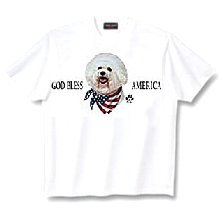 Bichon Frise - T Shirt - God Bless America