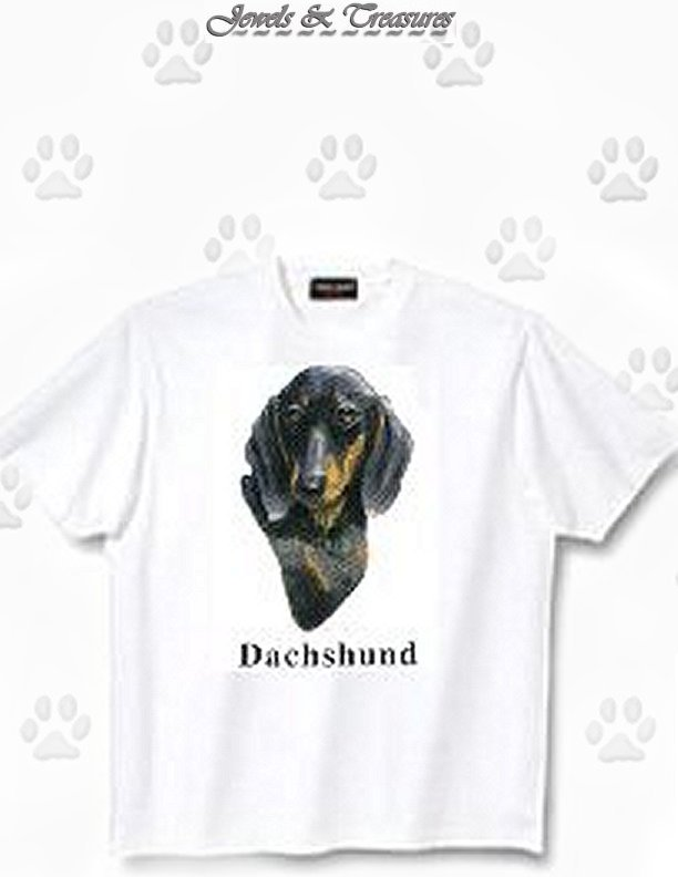 Dachshund, Black - T Shirt - Canine World
