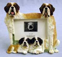 "Saint Bernard - Dog Photo Frame 4"" x 6"""