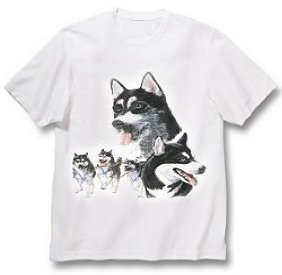 Siberian Husky - T Shirt - Best Friends