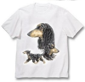 Afghan Hound - T Shirt - Best Friends