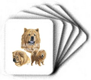 Chow Chow, Tan - Computer Mouse Pad