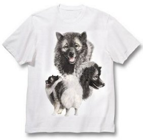 Keeshond - T Shirt - Best Friends