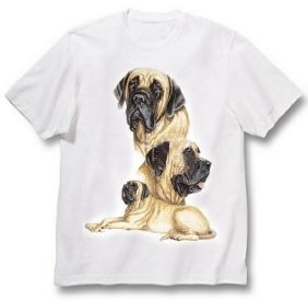 Mastiff, English - T Shirt - Best Friends