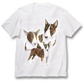 Bull Terrier, Brindle - T Shirt - Best Friends