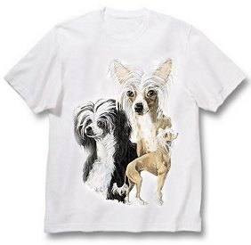 Chinese Crested - T Shirt - Best Friends