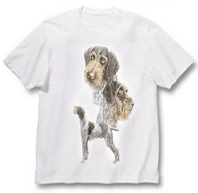 German Wirehaired Pointer - T Shirt - Best Friends