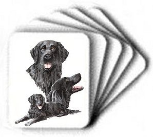 Flat Coat Retriever - Computer Mouse Pad