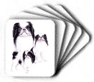 Japanese Chin - Computer Mouse Pad