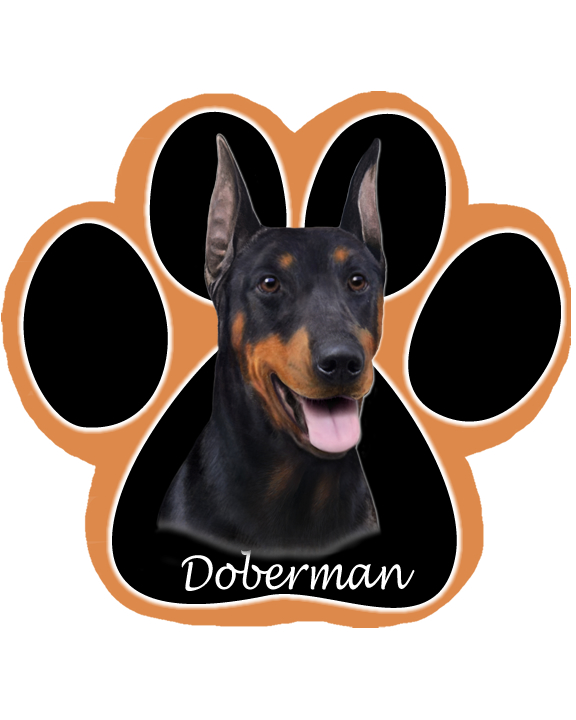 Doberman, Cropped - Computer Mousepad