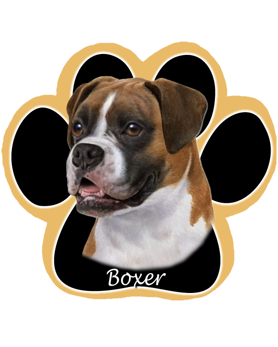 Boxer, Uncropped - Computer Mousepad