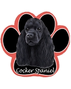 Cocker Spaniel, Black - Computer Mousepad
