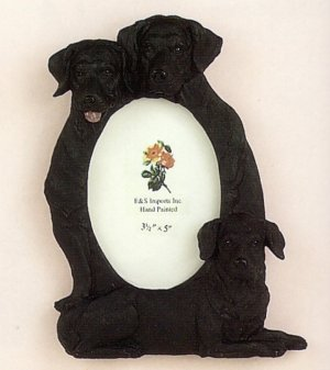 "Labrador, Black - Dog Photo Frame 3 1/2"" x 5"""