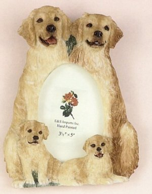 "Golden Retriever - Dog Photo Frame 3 1/2"" x 5"""