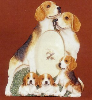 beagle dog photo frame 3 12 x 5