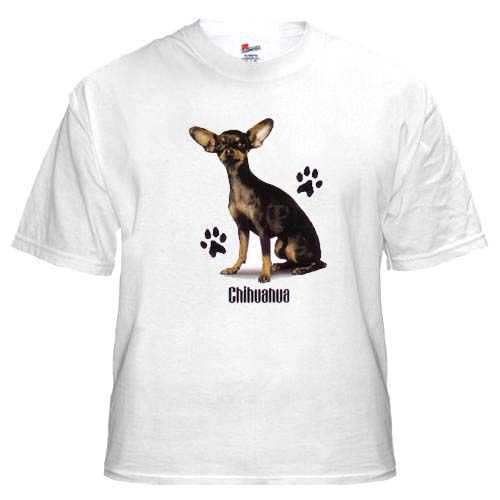 Chihuahua, Black - T Shirt - Profile