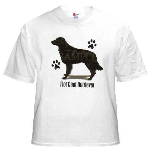 Flat Coat Retriever - T Shirt - Profile