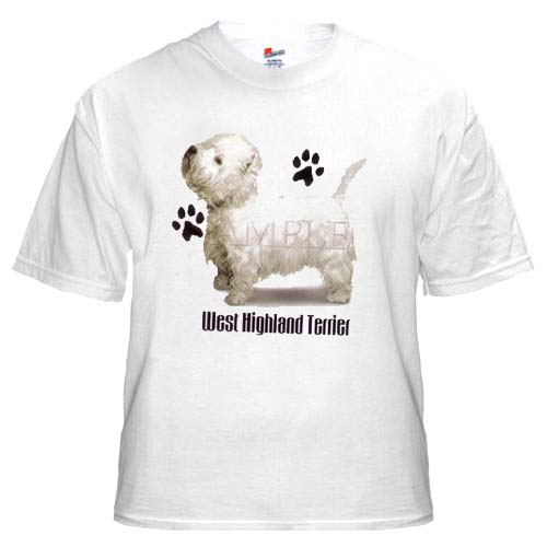 West Highland Terrier - T Shirt - Profile